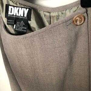 Dkny Skirts - DKNY | Vintage Wrap Button Mini Skirt Wool Silk 2